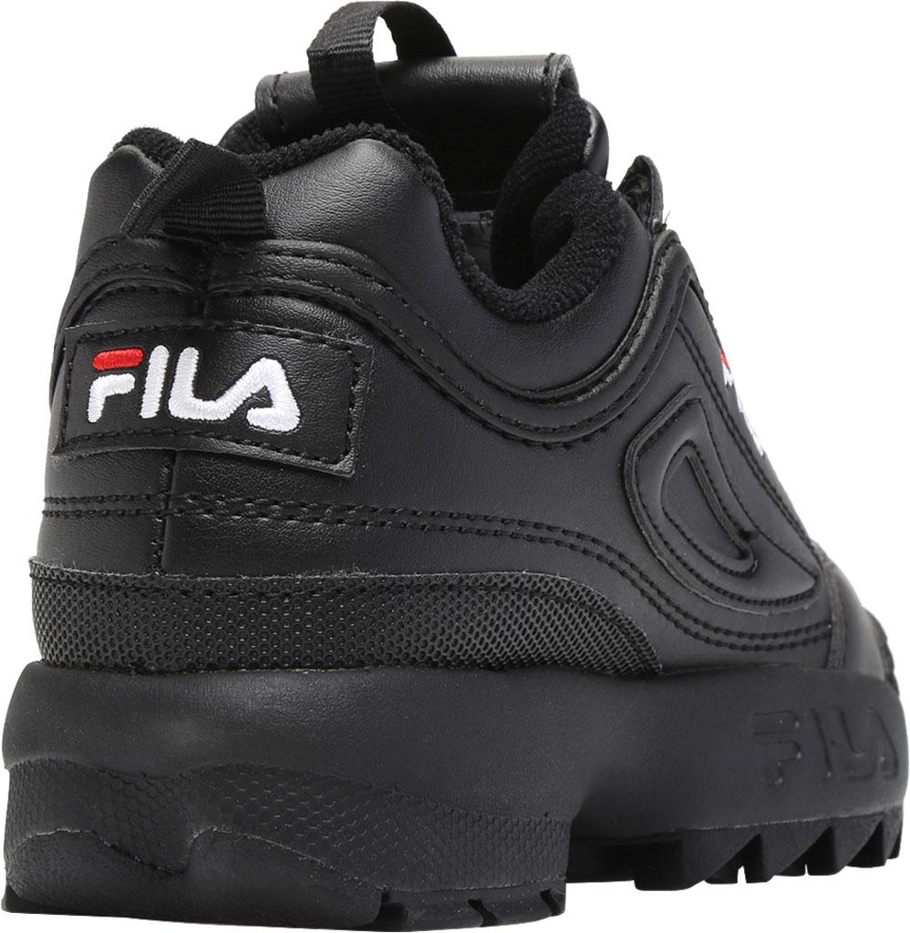 Children's Fila Disruptor II Premium Sneaker, Black/Black/White, large, image 4