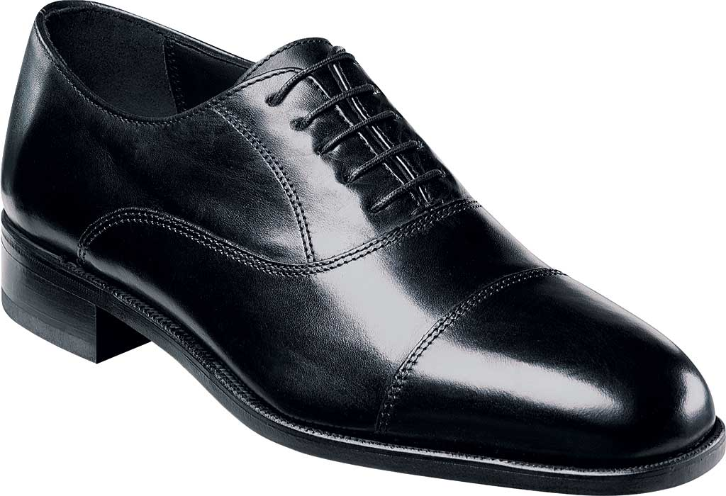 Men's Florsheim Edgar, Black Leather, large, image 1