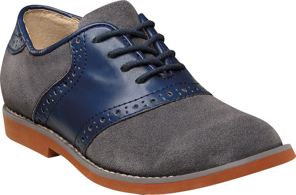 Boys' Florsheim Kennett Jr. Saddle Shoe, Navy Multi, large, image 1
