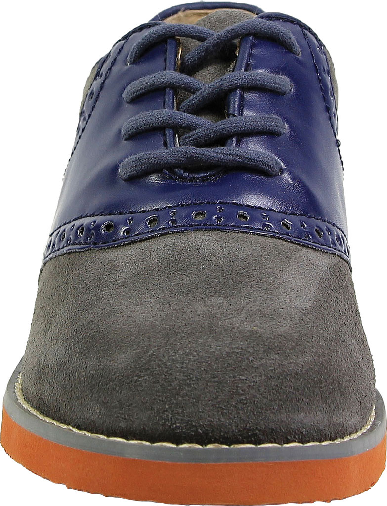 Boys' Florsheim Kennett Jr. Saddle Shoe, Navy Multi, large, image 4