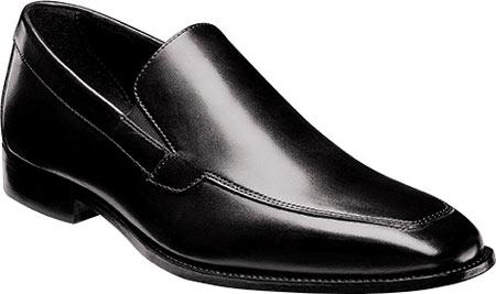 Men's Florsheim Jacobi Moc Slip On, Black Leather, large, image 1