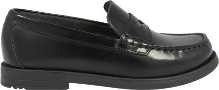 Boys' Florsheim Croquet Penny Jr., Black Smooth Leather, large, image 2