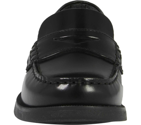 Boys' Florsheim Croquet Penny Jr., Black Smooth Leather, large, image 4