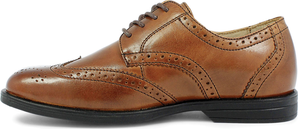 Boys' Florsheim Reveal Wingtip Jr., Cognac Leather, large, image 3