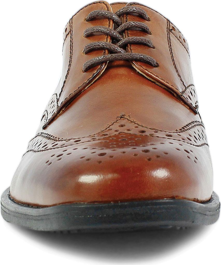 Boys' Florsheim Reveal Wingtip Jr., Cognac Leather, large, image 4