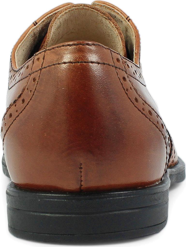 Boys' Florsheim Reveal Wingtip Jr., Cognac Leather, large, image 5