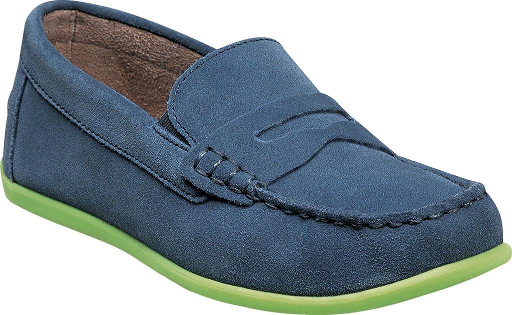 Boys' Florsheim Jasper Driver Jr., Blue Suede Leather, large, image 1