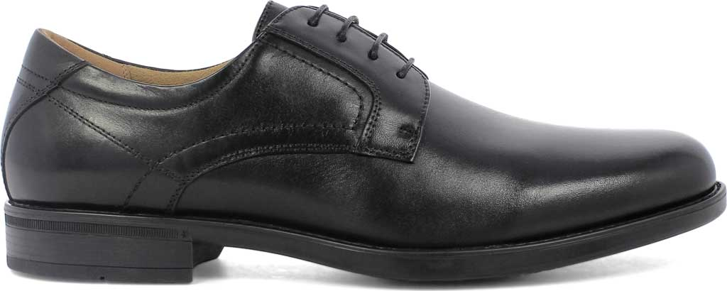 Men's Florsheim Midtown Plain Toe Oxford, Black Smooth Leather, large, image 2