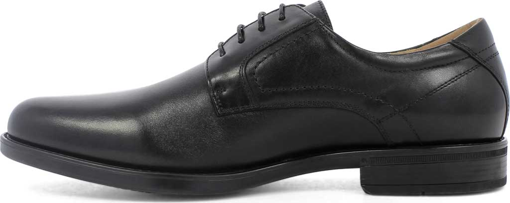 Men's Florsheim Midtown Plain Toe Oxford, Black Smooth Leather, large, image 3