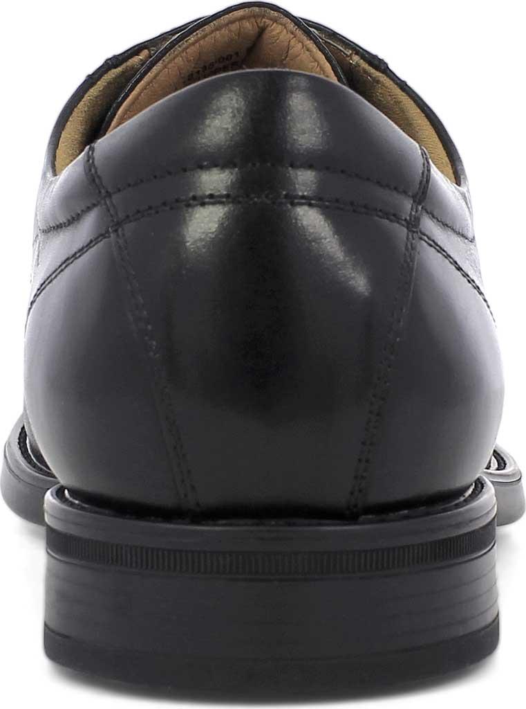 Men's Florsheim Midtown Plain Toe Oxford, Black Smooth Leather, large, image 4