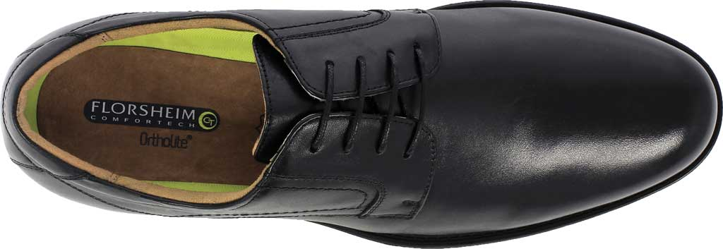 Men's Florsheim Midtown Plain Toe Oxford, Black Smooth Leather, large, image 5