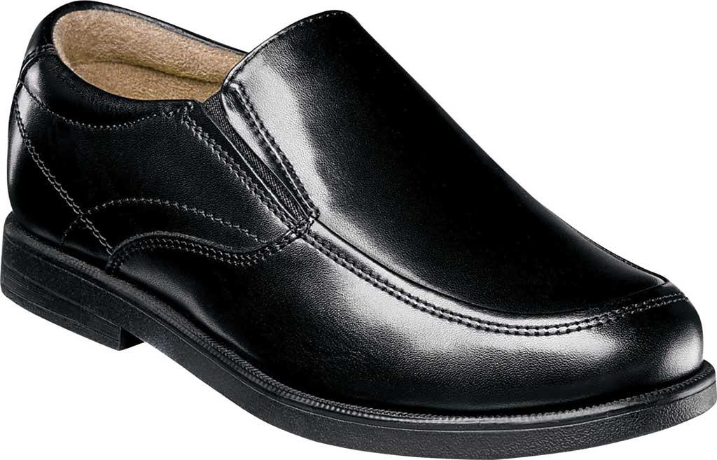 Boys' Florsheim Midtown Moc Slip On, Jr., Black Full Grain Leather, large, image 1