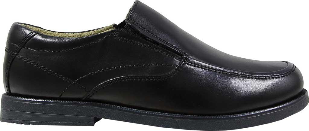 Boys' Florsheim Midtown Moc Slip On, Jr., Black Full Grain Leather, large, image 2
