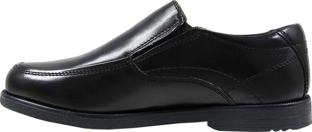 Boys' Florsheim Midtown Moc Slip On, Jr., Black Full Grain Leather, large, image 3