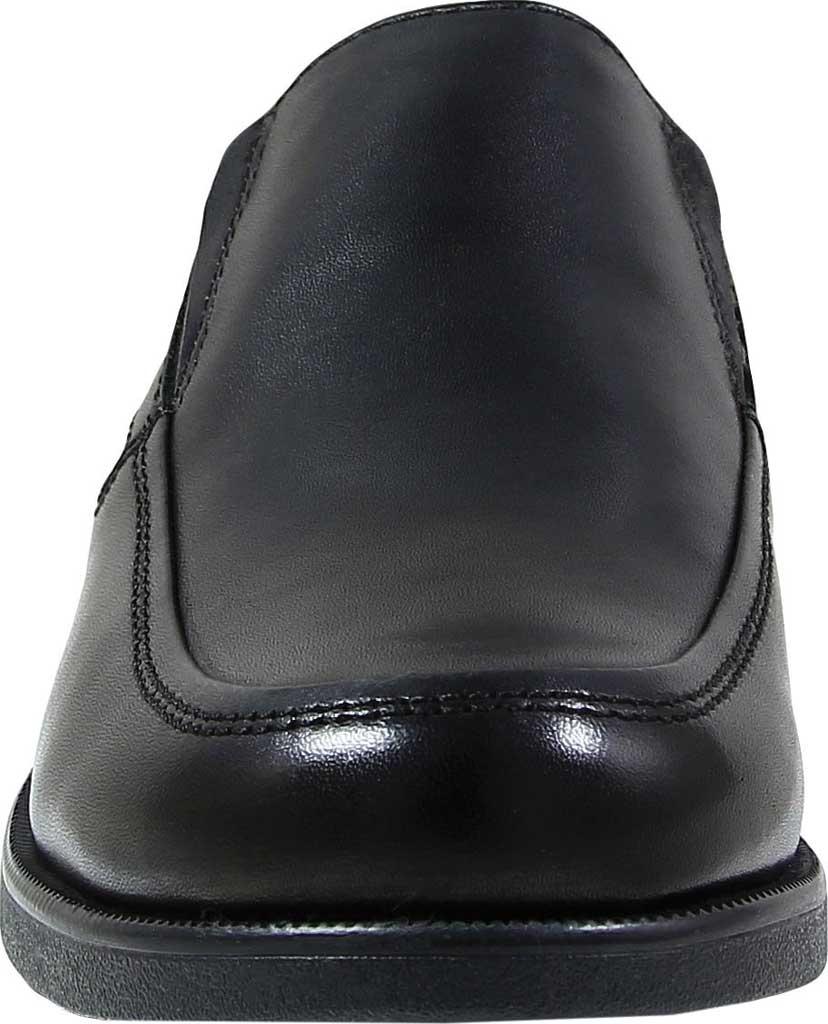 Boys' Florsheim Midtown Moc Slip On, Jr., Black Full Grain Leather, large, image 4