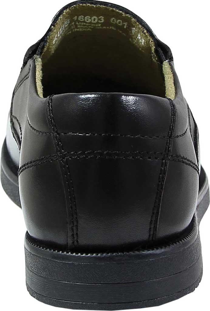 Boys' Florsheim Midtown Moc Slip On, Jr., Black Full Grain Leather, large, image 5