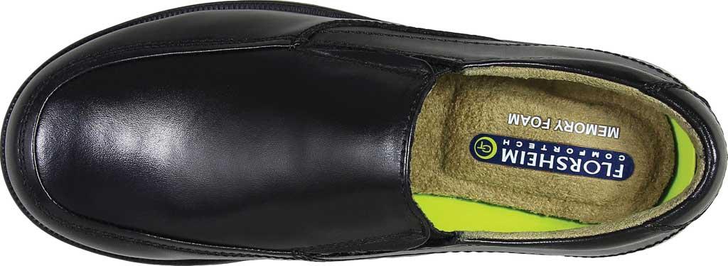 Boys' Florsheim Midtown Moc Slip On, Jr., Black Full Grain Leather, large, image 6
