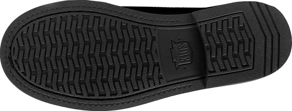 Boys' Florsheim Midtown Moc Slip On, Jr., Black Full Grain Leather, large, image 7