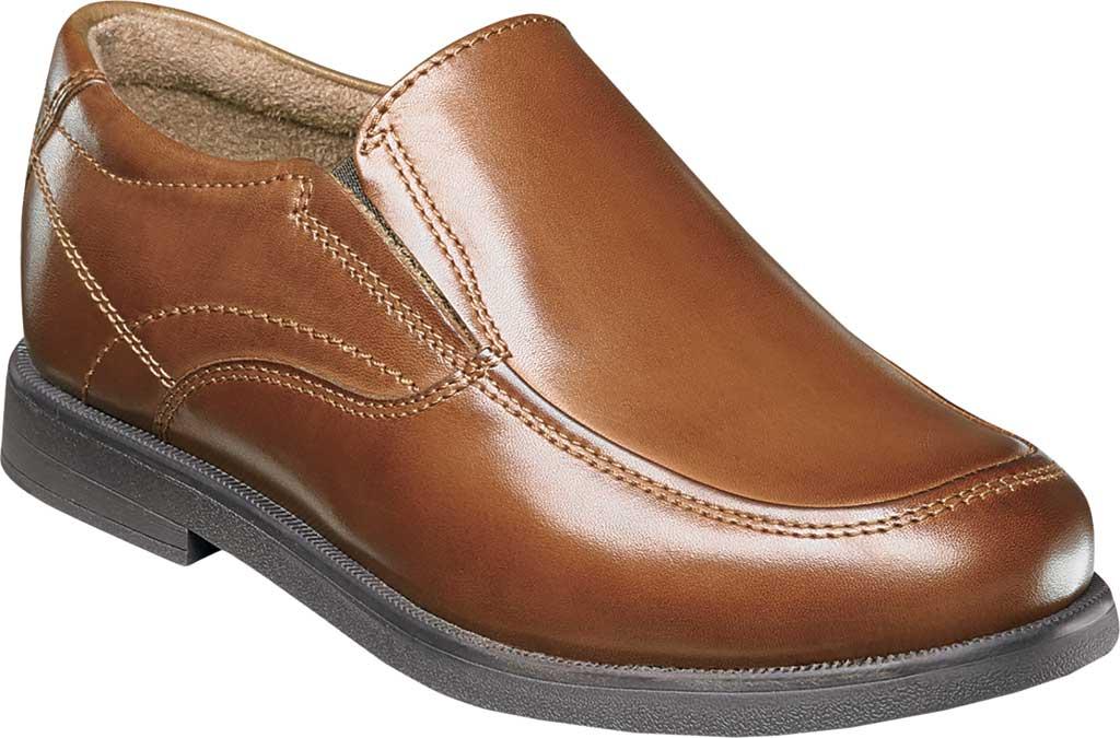 Boys' Florsheim Midtown Moc Slip On, Jr., Cognac Full Grain Leather, large, image 1