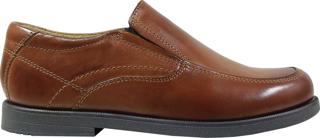 Boys' Florsheim Midtown Moc Slip On, Jr., Cognac Full Grain Leather, large, image 2