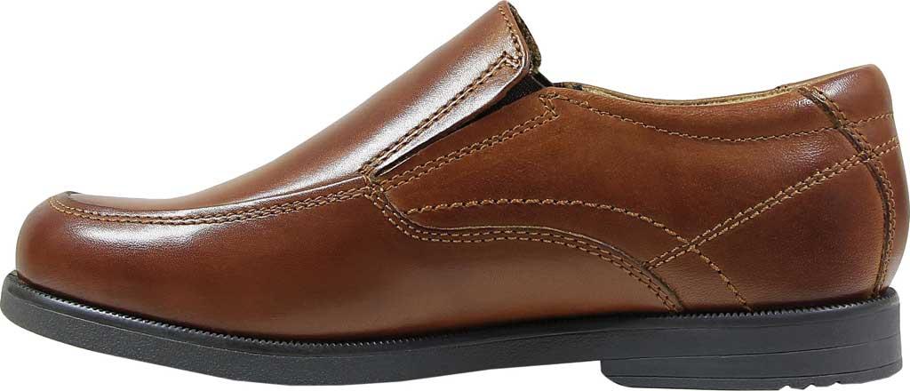 Boys' Florsheim Midtown Moc Slip On, Jr., Cognac Full Grain Leather, large, image 3