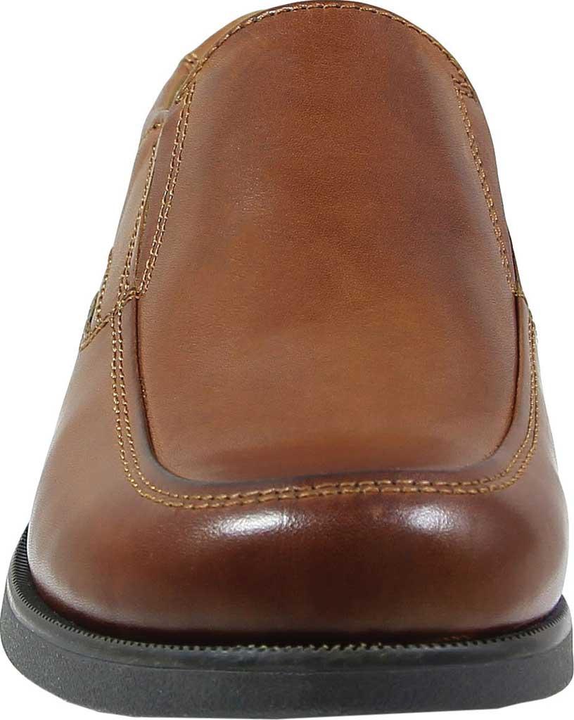 Boys' Florsheim Midtown Moc Slip On, Jr., Cognac Full Grain Leather, large, image 4