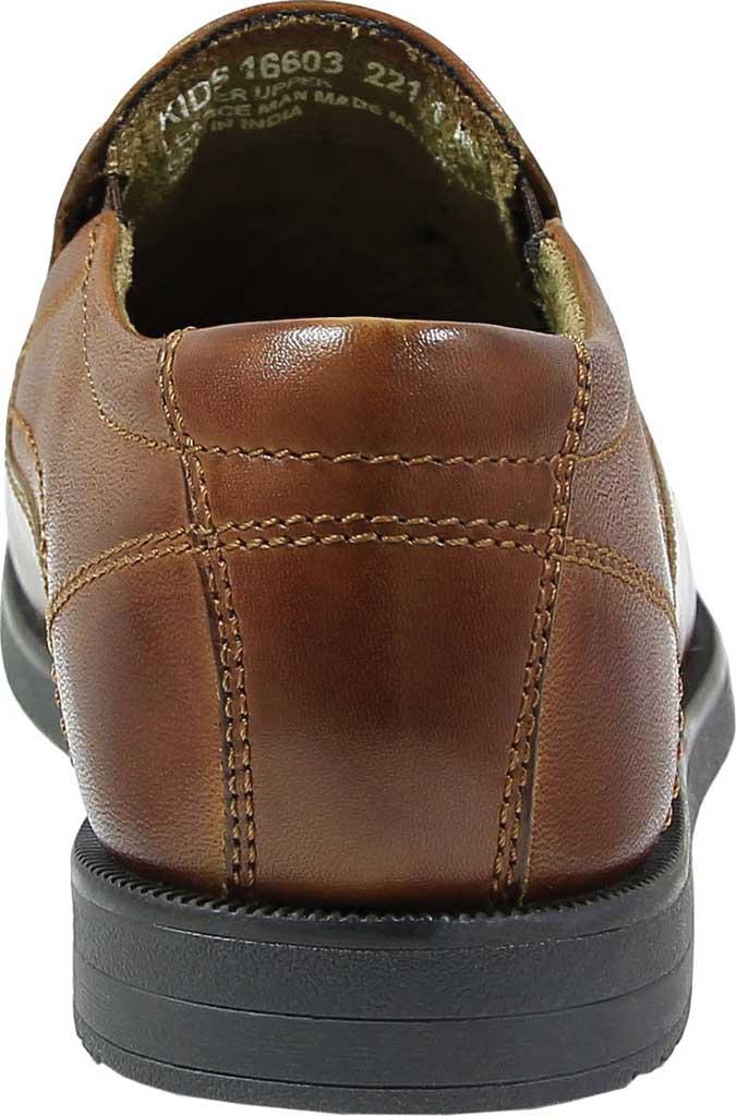 Boys' Florsheim Midtown Moc Slip On, Jr., Cognac Full Grain Leather, large, image 5