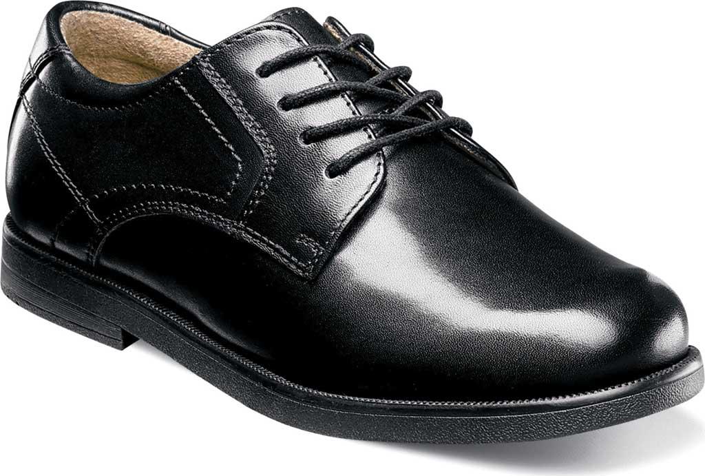 Boys' Florsheim Midtown Plain Oxford, Jr., Black Leather, large, image 1