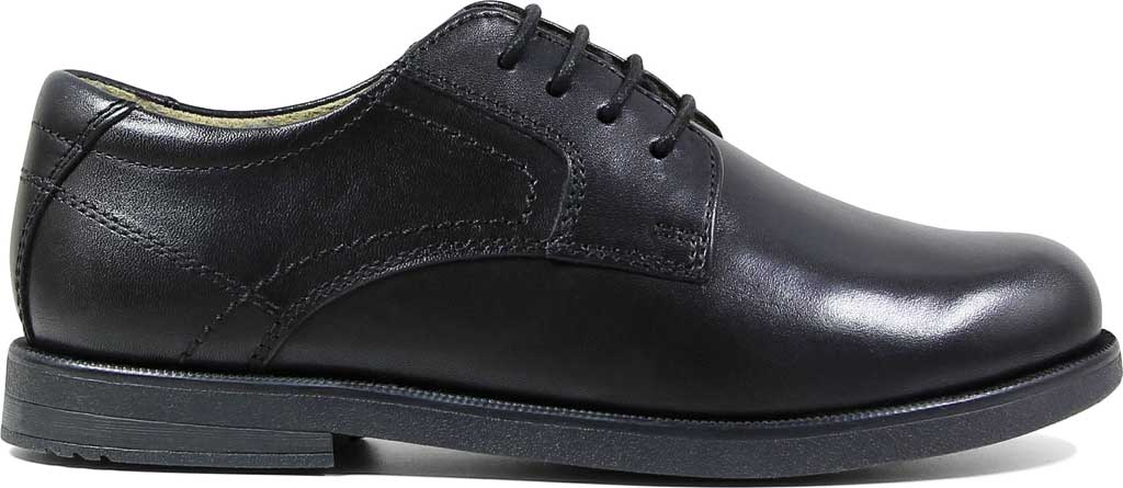 Boys' Florsheim Midtown Plain Oxford, Jr., Black Leather, large, image 2