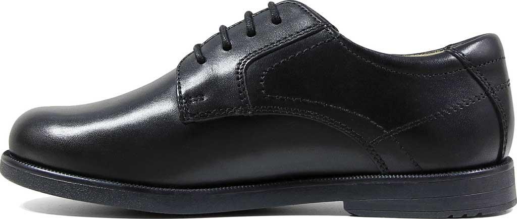 Boys' Florsheim Midtown Plain Oxford, Jr., Black Leather, large, image 3