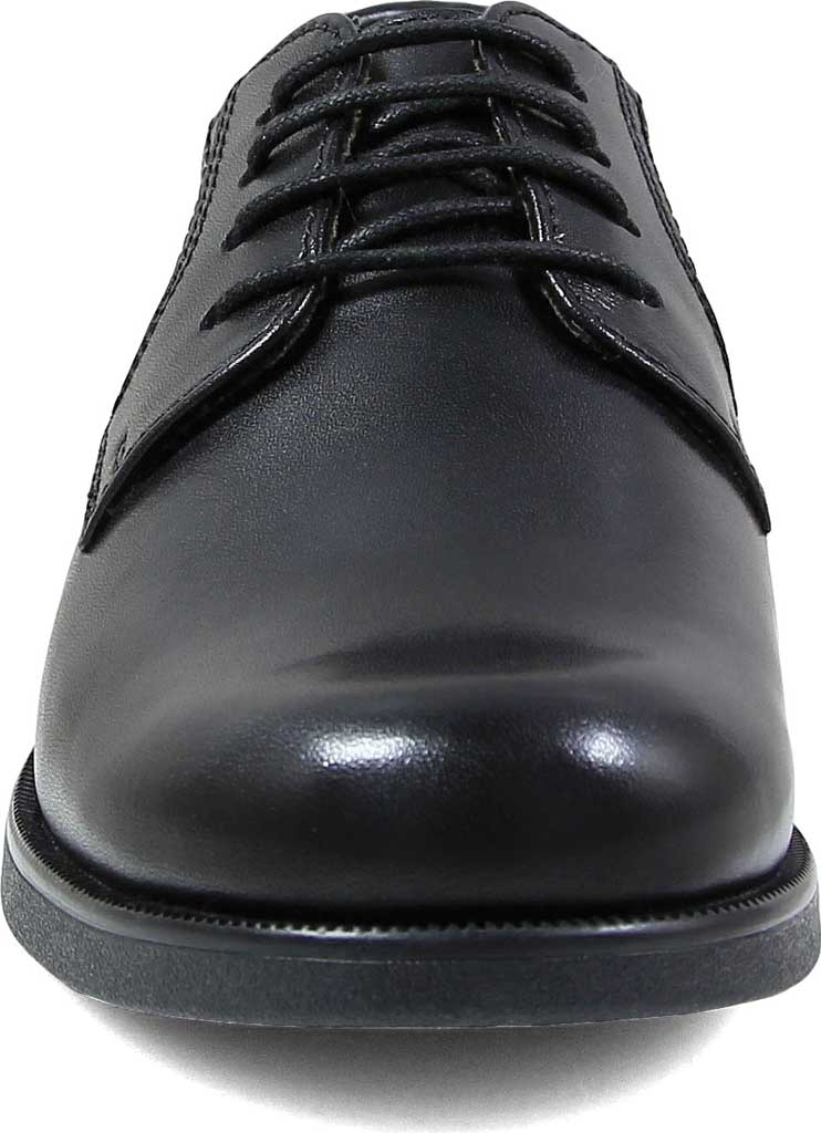 Boys' Florsheim Midtown Plain Oxford, Jr., Black Leather, large, image 4