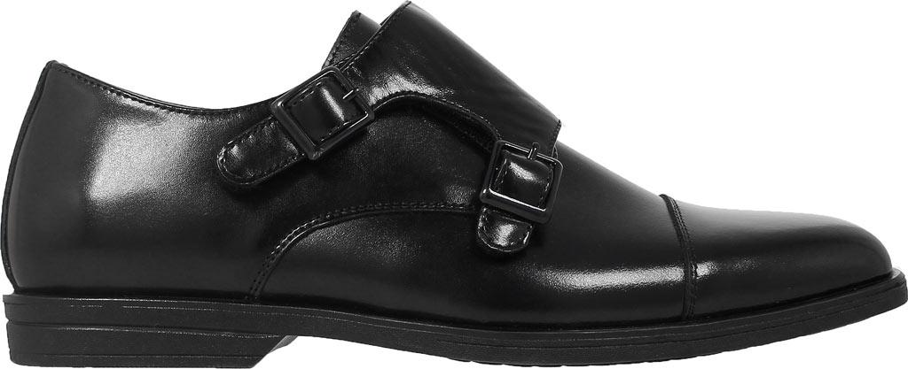 Boys' Florsheim Reveal Double Monk Oxford, Jr., Black Leather, large, image 2