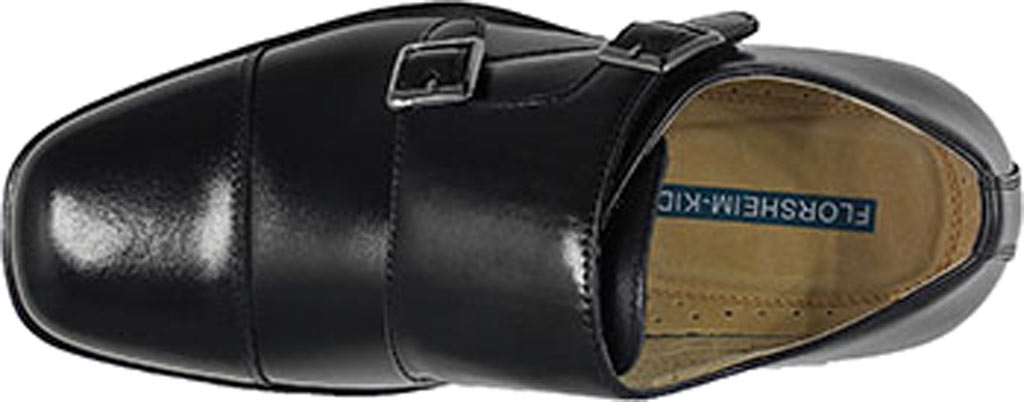 Boys' Florsheim Reveal Double Monk Oxford, Jr., Black Leather, large, image 3