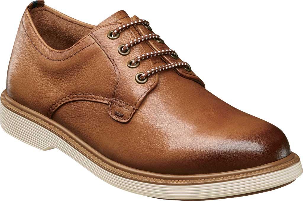 Boys' Florsheim Supacush Plain Toe Oxford Jr., Cognac Smooth Leather, large, image 1
