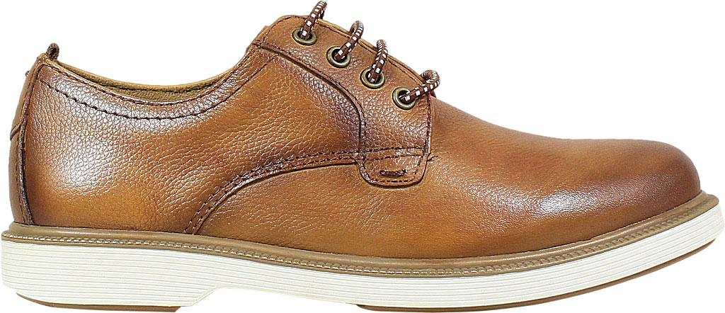 Boys' Florsheim Supacush Plain Toe Oxford Jr., Cognac Smooth Leather, large, image 2