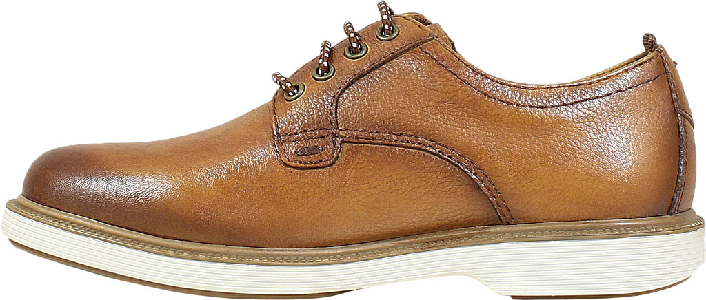 Boys' Florsheim Supacush Plain Toe Oxford Jr., Cognac Smooth Leather, large, image 3
