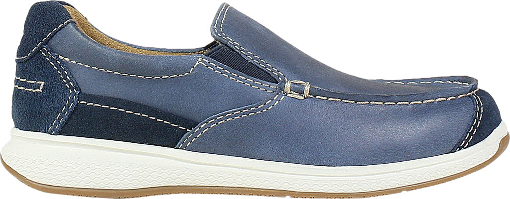 Boys' Florsheim Great Lakes Moc Toe Slip On Jr, Indigo Genuine Leather, large, image 2