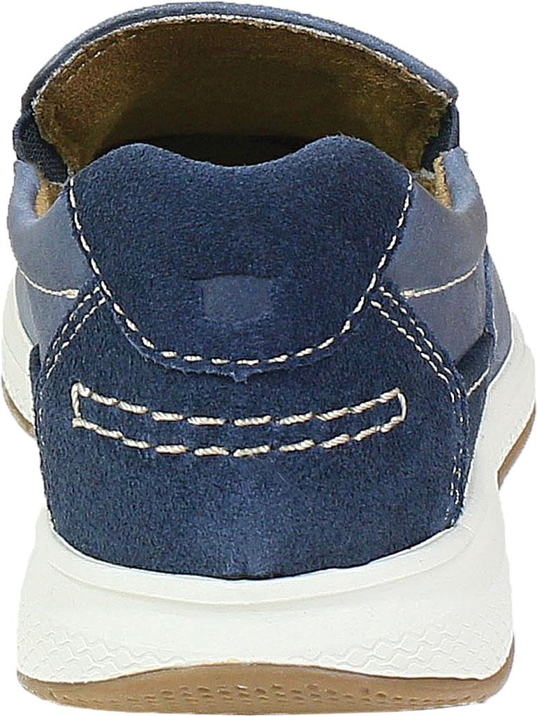 Boys' Florsheim Great Lakes Moc Toe Slip On Jr, Indigo Genuine Leather, large, image 4