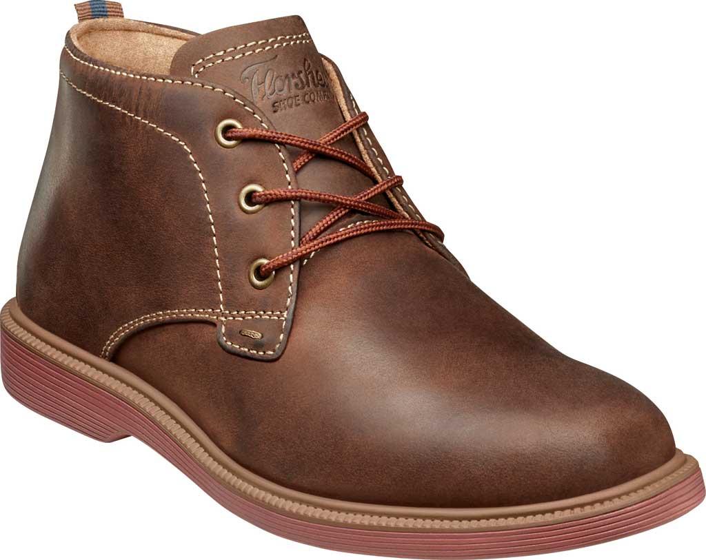 Boys' Florsheim Supacush Chukka Boot Jr., Brown Chocolate Leather, large, image 1