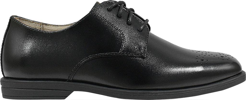 Boys' Florsheim Reveal Perf Toe Oxford Jr., Black Leather, large, image 2