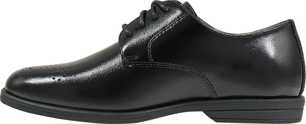 Boys' Florsheim Reveal Perf Toe Oxford Jr., Black Leather, large, image 3