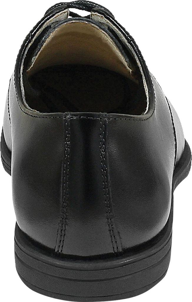 Boys' Florsheim Reveal Perf Toe Oxford Jr., Black Leather, large, image 4