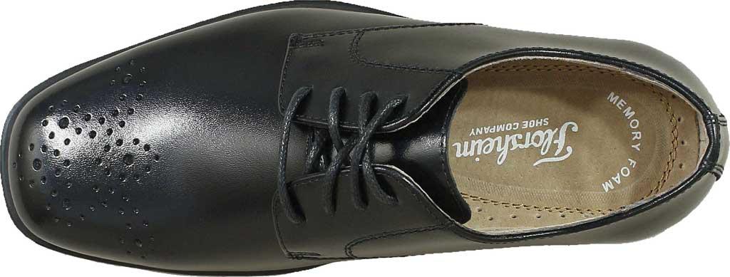 Boys' Florsheim Reveal Perf Toe Oxford Jr., Black Leather, large, image 5