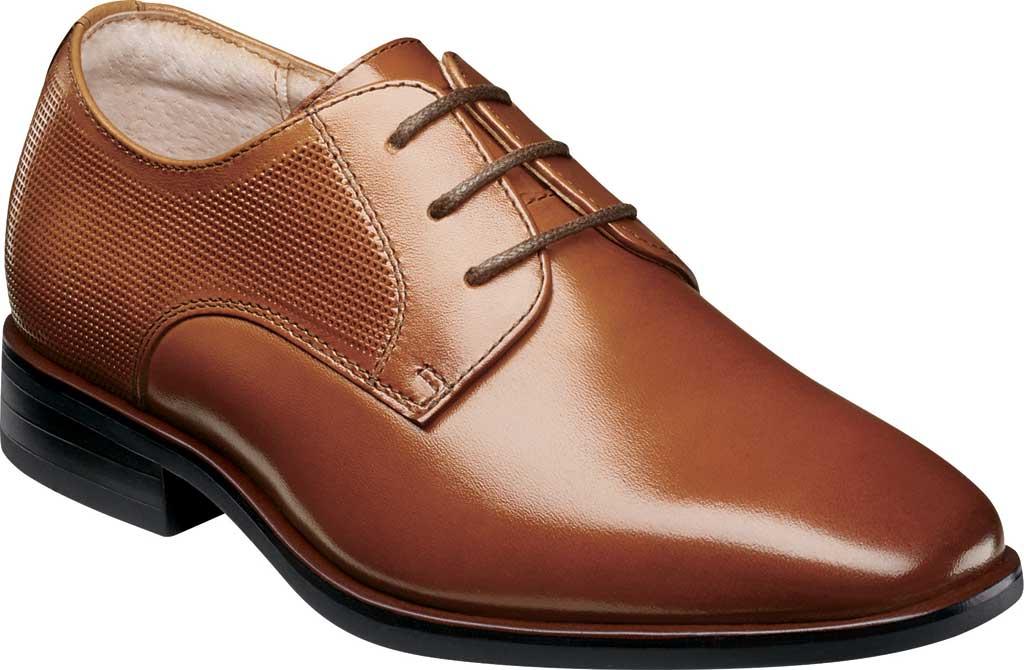Boys' Florsheim Postino Plain Toe Oxford Jr., Cognac Leather, large, image 1
