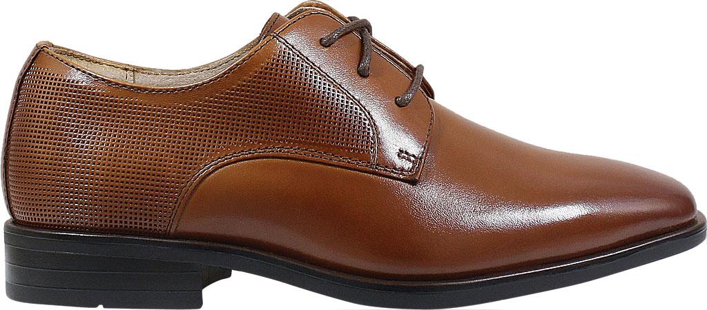 Boys' Florsheim Postino Plain Toe Oxford Jr., Cognac Leather, large, image 2