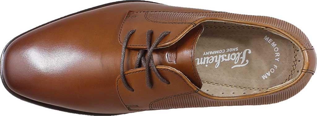 Boys' Florsheim Postino Plain Toe Oxford Jr., Cognac Leather, large, image 5