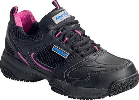 Women's Nautilus N2151 Steel Toe Athletic, Black Leather, large, image 1