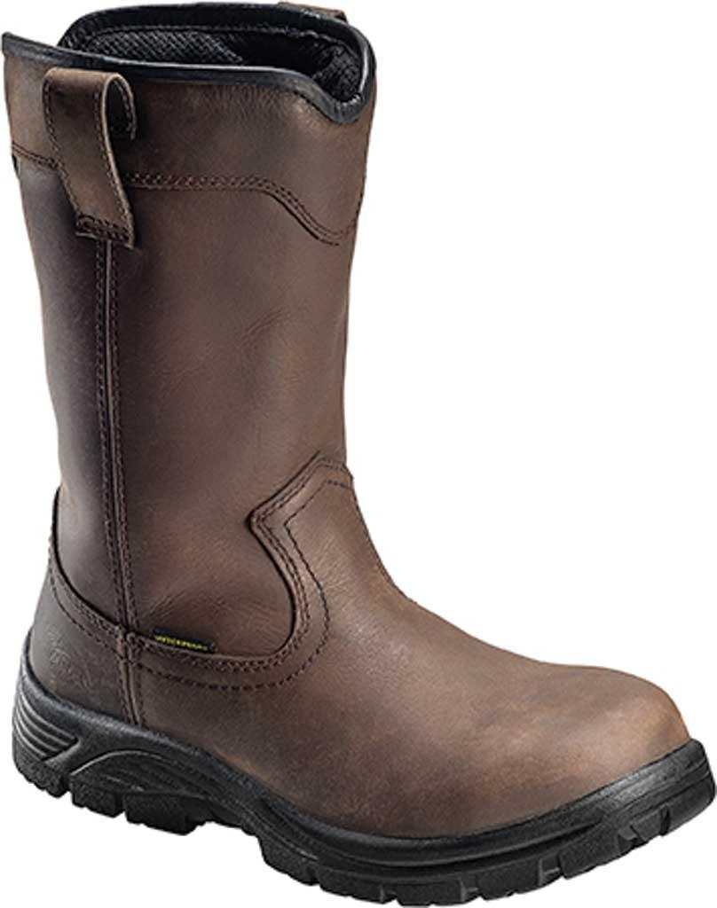 "Men's Avenger A7846 11"" Comp Toe EH Waterproof Wellington Boot, Brown Full Grain Leather/Cordura, large, image 1"