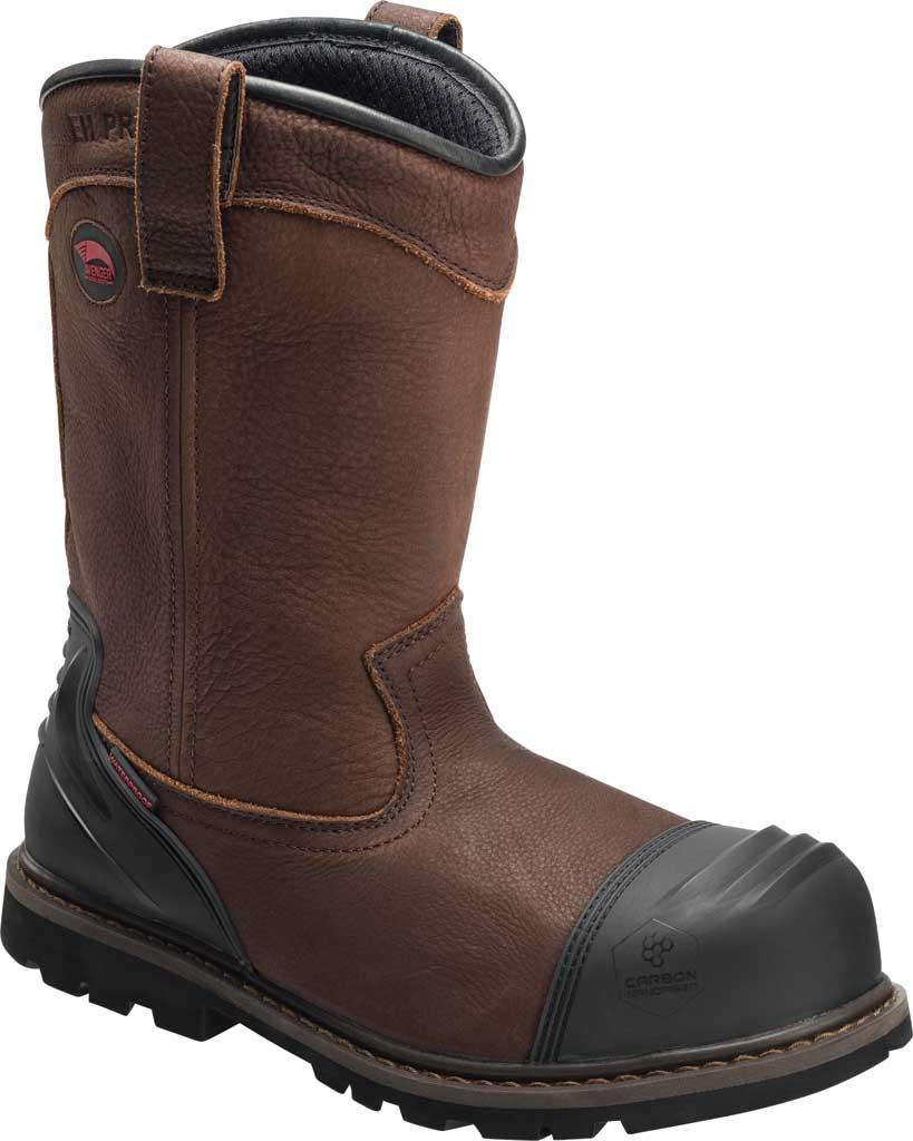 Men's Avenger A7876 Carbon Toe Waterproof PR Wellington Boot, Brown Full Grain Leather, large, image 1