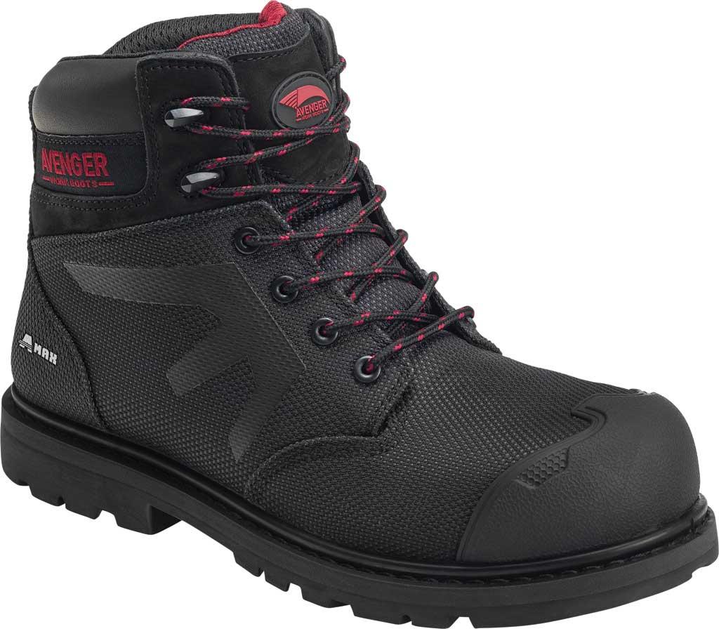Men's Avenger A7581 Composite Toe PR Waterproof Work Boot, Black Synthetic, large, image 1